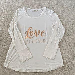 Soma Cool Nights White Long Sleeve Pajama Top.